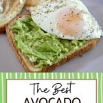 egg with avocado toast