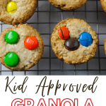 granola bites with pinterest text