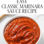 marinara sauce in bowl