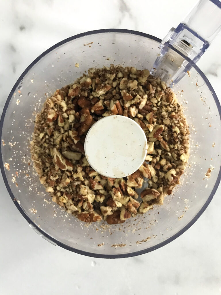 chopped pecans in small food processor