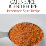cajun spice blend in a tablespoon