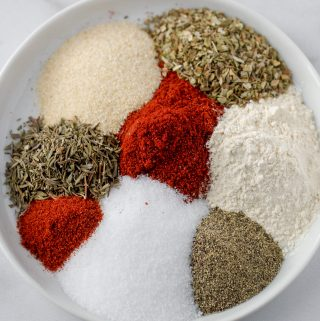 the eight spices needed to make cajun spice blend