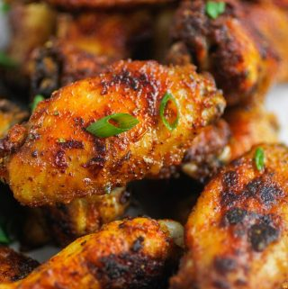 cajun wings with green onions