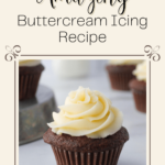 chocolate cup cakes with buttercream icing on top