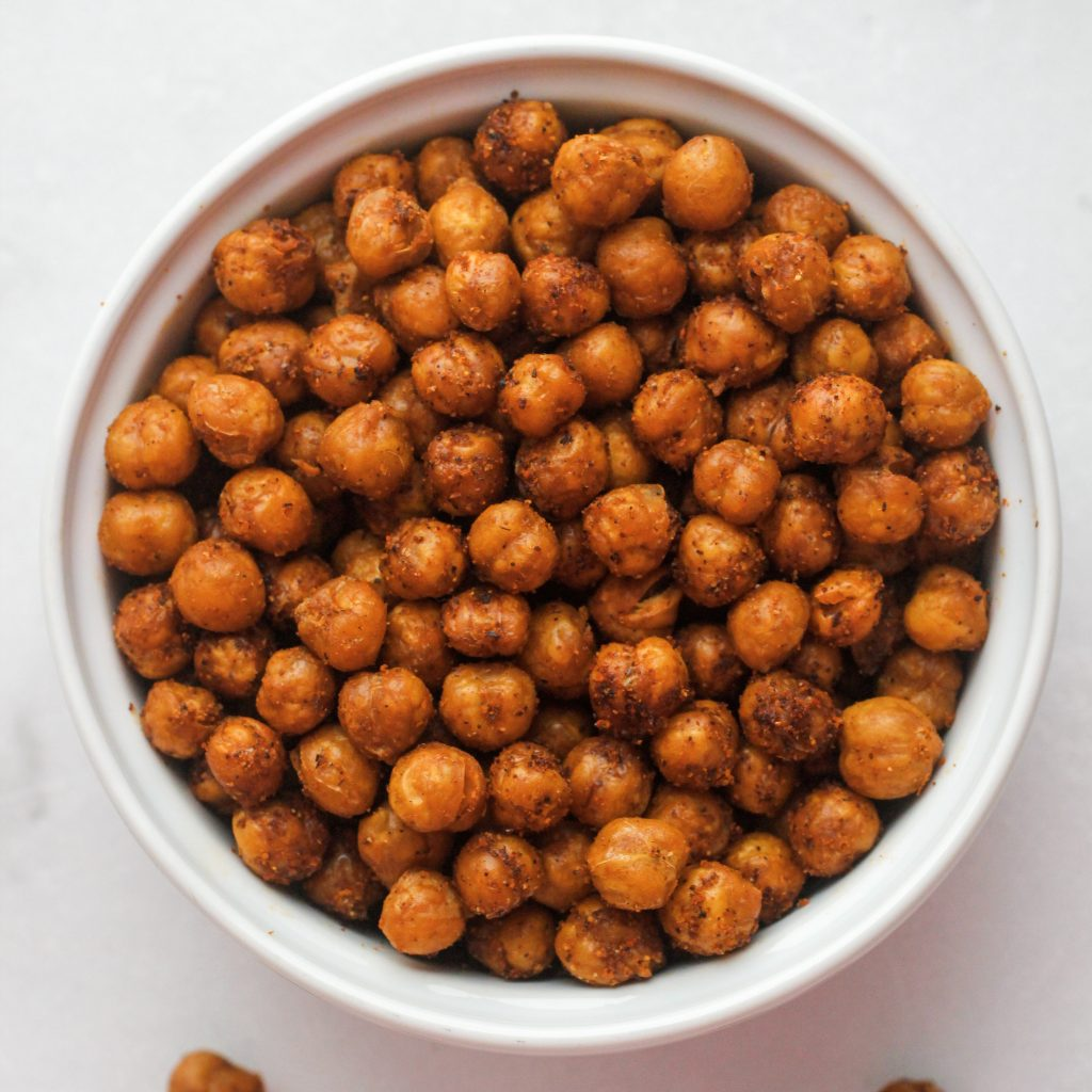 9 Game Day Snacks Roasted Chickpeas